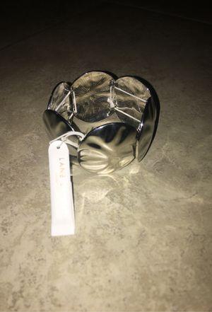 Lane Bryant Hammered Metal Stretch Bracelet Silver for Sale in San Diego, CA