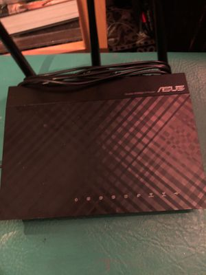 Asus dark night double 450 MPS dual band N router for Sale in San Francisco, CA