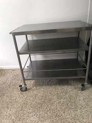 IKEA Stainless Steel Kitchen Island Cart for Sale in Seattle, WA