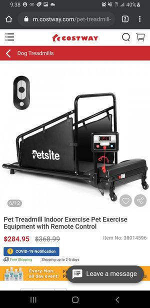 Pet Treadmill Indoor Exercise Pet Exercise Equipment with Remote for Sale in Riverside, CA