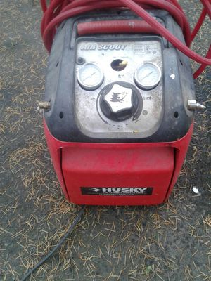 Husky compressor with wheels for Sale in Portland, OR