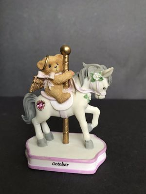 Cherished Teddies October Monthly Carousel Figurine for Sale in San Antonio, TX