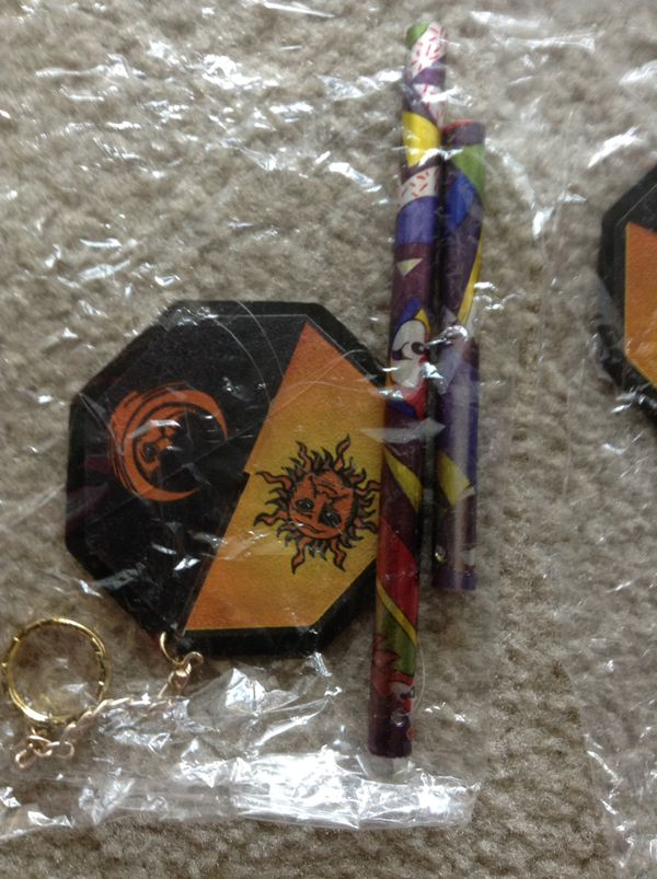 NEW!! Gift!! Gorgeous Wind Chime - orange black sun moon design - soft tinkling tune - $25