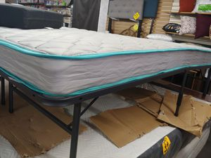 Queen-size 6in innerspring mattress $79.99 queen size metal platform bed frame $79.99 for Sale in Phoenix, AZ
