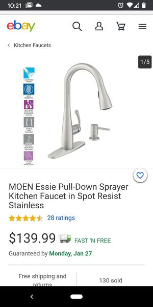 Moen kitchen Faucet for Sale in Rancho Cucamonga, CA