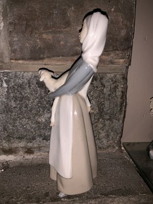 Lladro porcelain girl with sheep sculpture for Sale in Silver Spring, MD