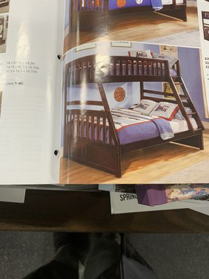 Twin over full bunk bed on sale( mattresses are sold separately) ON SALE for Sale in Federal Way, WA