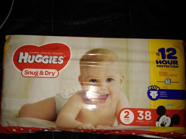 89 Huggies and a pack of Pampers Wipes