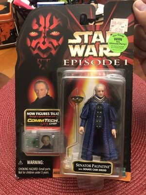 Star Wars Episode 1 Senator Palpatine with Senate Cam Droid- for Sale in East Los Angeles, CA