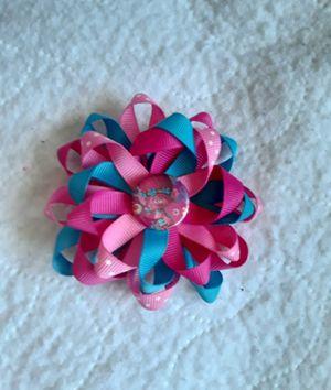Trolls pinwheel hair bow clip for Sale in San Bernardino, CA
