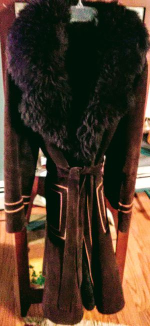 """Vintage 1970's """"Penny Lane"""" style Full length suede and fur coat. Perfect condition for Sale in Newportville, PA"""