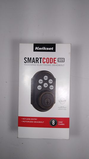 Kwikset SmartCode 909 TouchPad Bronze Electronic Deadbolt Smartkey Keyless Entry for Sale in Westminster, CO