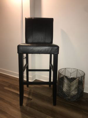 3 Black Leather Barstools for Sale in Chicago, IL