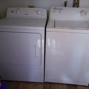 Washer And Dryer, Large Works Great, Selling Because Bought New Ones for Sale in Fort Lauderdale, FL