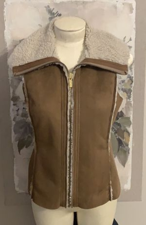 NEW Michael Kors Sherpa Lined Faux Suede Vest for Sale in San Antonio, TX