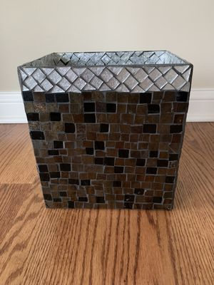 Materials Marketing glass mosaic trash can for Sale in Oak Brook, IL