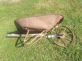 Rustic wheel barrow with steel wheel for Sale in Inwood,  WV