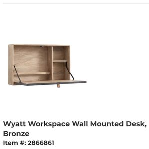Wyatt Workspace Wall Mounted Desk for Sale in Schaumburg, IL