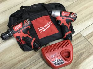 Milwaukee M12 Drill Driver & Impact Driver Combo New for Sale in Framingham, MA