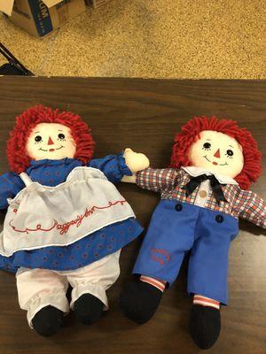Raggedy Ann & Andy. Plush dolls for Sale in Gilbert, AZ