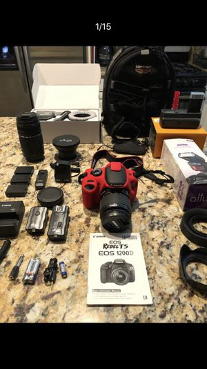 Canon Eos Rebel T5 Huge Bundle for Sale in Irvine, CA