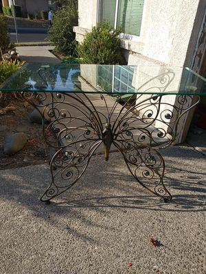 Pier1 Glass Butterfly Console Table for Sale in Vacaville, CA