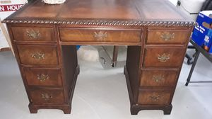 Antique desk with leather inlay top for Sale in Tukwila, WA