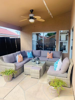 Living Spaces Outdoor Patio Wicker Sectional Furniture Set for Sale in Chandler, AZ