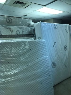 Queen jumbo orthopedic memory foam mattress and box spring box spring for Sale in Chicago, IL