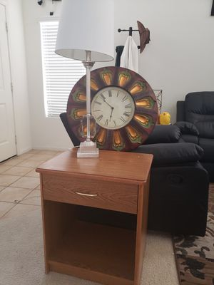Lamp, clock and end table for Sale in North Las Vegas, NV
