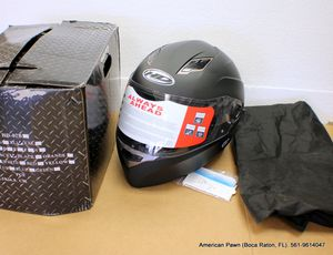Black full face motorcycle helmet XL dot approved for Sale in Delray Beach, FL