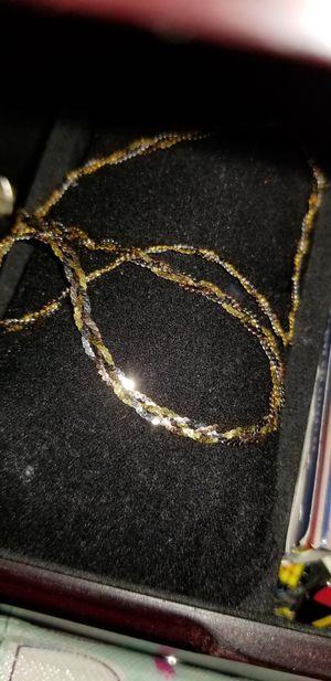 14k gold braided herringbone necklace for Sale in Dixon, CA