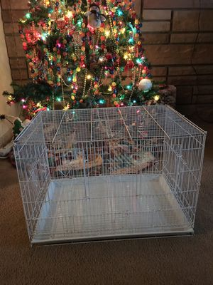 Big White Bird Cage - Can be Divided in Half to Make into Two Cages & Lots of Doors! for Sale in Des Plaines, IL
