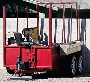 Double Axle/ Tandem Trailer w/Electric Braking, Tongue Jack, Winch & 12V Battery for Sale in El Mirage, AZ