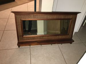 Mirror with hooks pier one for Sale in West Palm Beach, FL
