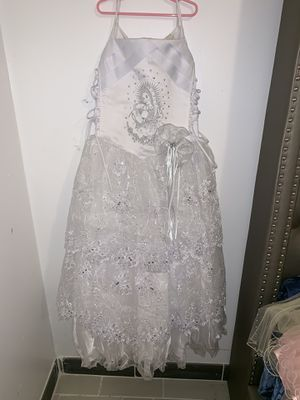 White Dress Size:12 in kids for Sale in Houston, TX
