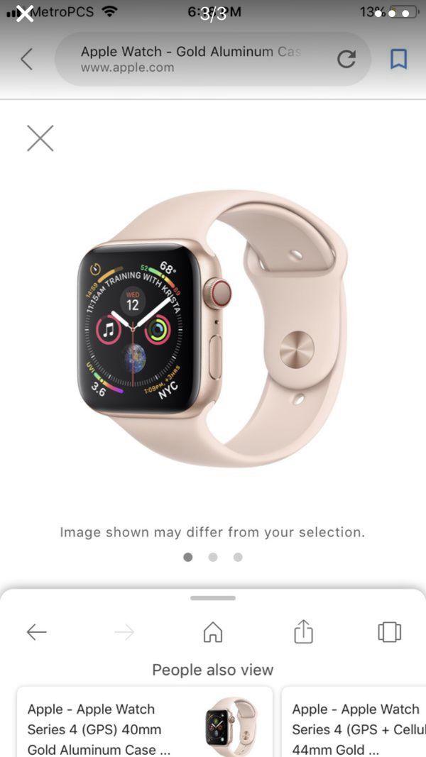Brand new Apple Watch 4 series 40mm gold Aluminum case pink sand sport band (GPS)