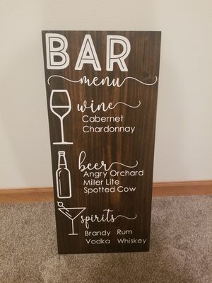 Bar menu sign for Sale in Waunakee, WI