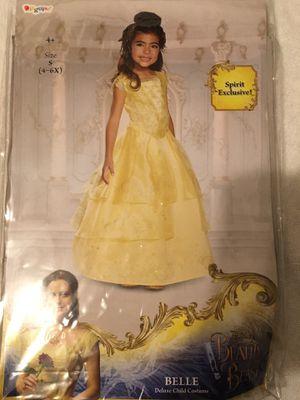 Girls Belle Disney deluxe dress up dress for Sale in Fresno, CA