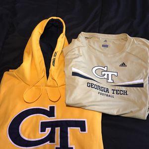 Georgia Tech Pullover Hoodie & Athletic Shirt 2XL for Sale in Alpharetta, GA