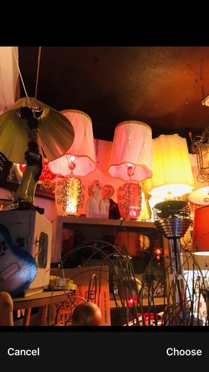 Pair of Amazing 1960's upper and lower Light up table lamps with original shades for Sale in Burbank, CA