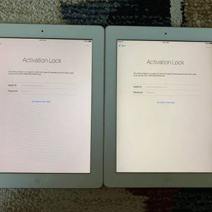 2 Apple iPad 2's 32GB Silver For Parts W/ 30 Pin To VGA Adapter for Sale in Irvine, CA