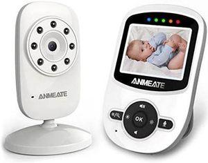 Monitor de video para bebés con cámara, sensor de temperatura, audio bidireccional y largo rango de operación for Sale in Hialeah, FL