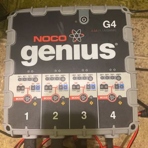 Noco Genius G4 6V/12V 4.4 Amp 4-Bank Battery Charger Maintainer for Sale in Auburn, WA