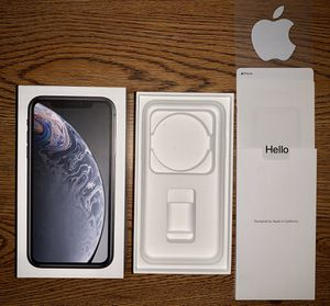 Iphone XR 64gb black BOX ONLY for Sale in Horsham, PA