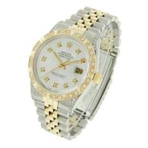 Rolex Datejust- 36mm Two-Tone Silver Diamond Dial, Pyramid Bezel and Lugs Set with Diamonds for Sale in Los Angeles, CA