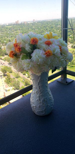 Flower arrangement + vase for Sale in Denver, CO