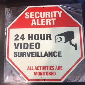 Aluminum Surveillance Sign-Glow In The Dark for Sale in Colorado Springs, CO