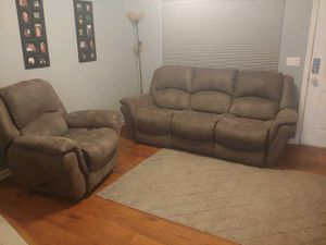 Reclining couch and chair for Sale in Sebastian, FL