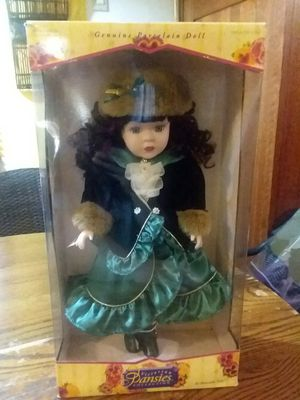 Pansies porcelain doll collectible for Sale in Portland, OR